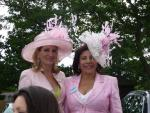 Karen Philips and Society milliner Deida Acero