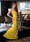 Long yellow evening gown from Ralph Lauren Ralph Lauren 1 New Bond Street Mayfair W1 Tel: 020 7535 4600