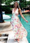 Silk chiffon floor length floral dress, £499 Beau Monde 1st Floor 20 Kingly Street London W1 OPEN: MON-SAT 10:30-6:30 TEL. 020 7734 6563 www.beaumonde.uk.com