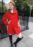 Red wool with double layer collar, £399, from the designer Daniela Besso Daniela Besso 21 Marylebone High Street London W1 Open: Mon-Sat 10-6:30 / Sun 12-5 Tel. 020 7486 7408